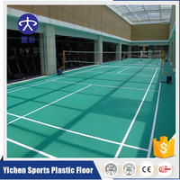Yichen Badminton Court PVC Vinyl Sports Flooring
