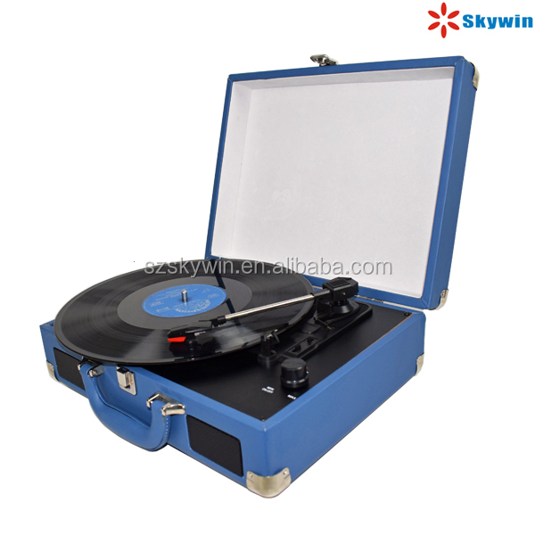 Multiple Turntable vinyl record Player USB SD recording With Full range speakers