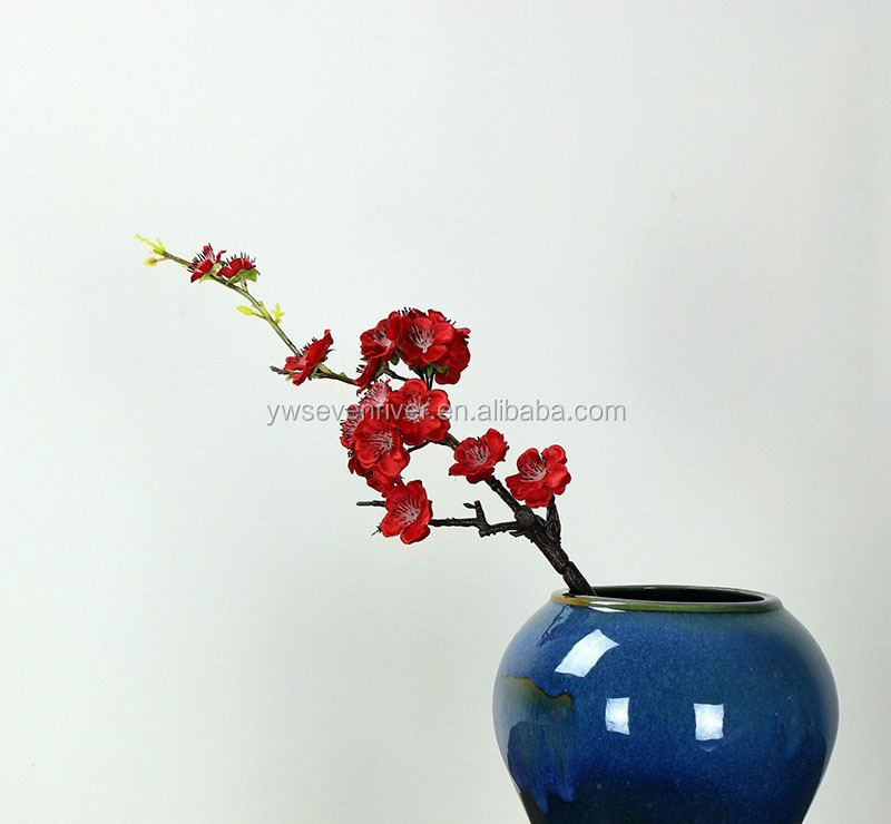 Wholesale plum blossom cherry blossom branch artificial flowers for indoor decoration