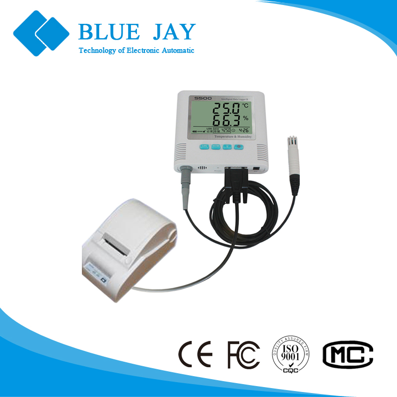 S500 Series+M07 Refrige Truck Use <strong>Temperature</strong>& Humidity Data Logger with Printer Function