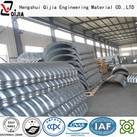 concentric reducer large diameter corrugated metal pipe integral corrugated steel conduit pipes Zinc coating galvanized metal