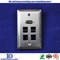 1 Gang HDMI 4 Keystone Ports outlet and light switch covers wall of plates