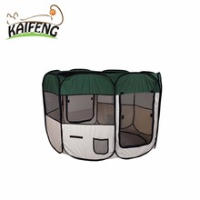 Pet Applications Type 600 D Oxford Cloth Folding Dog Activity Playpens, Net Cloth Material Pet House & Cage