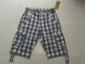 Mens Check Cargo short.