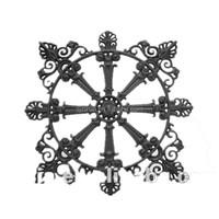 decorative cast iron rosette for ornate fence/gates
