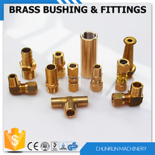 CR-509 low price brass parts copper pipe flare fitting tube connector brass barb hose fitting brass compression pipe fitting