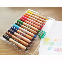 Jumbo wooden wax crayons, jumbo pencil