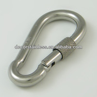Carabiner clip with screw lock
