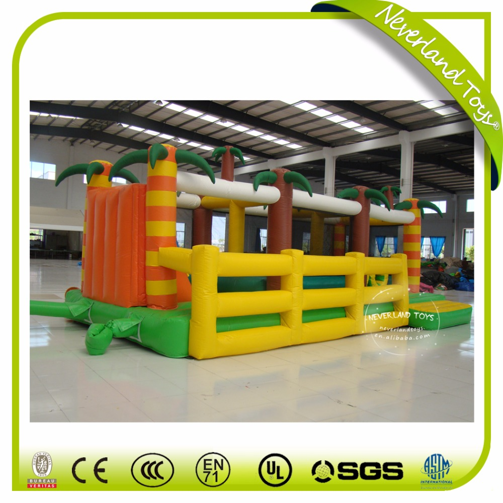 NEVERLAND TOYS inflatable bouncer obstacle,giant inflatable obstacle course outdoor obstacle course equipment