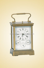 Antique Mechanical Metal Art Clock, Retro Home Decoration Carriage Table Clock