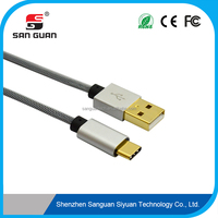 Gold plated usb3.1 type c cable/usb c to usb 2.0 for type-c android phone