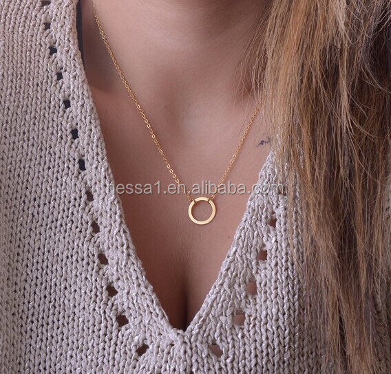 Fashion newest design gold plated necklace Wholesale XR-00101