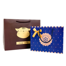 Newest Design Fashion Style Ribbon Hanlde Shopping Paper bag