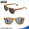 Cheap wooden sunglasses with polarized lens zebra looking bulk buy from China