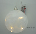 Glass ball home decorations with led light