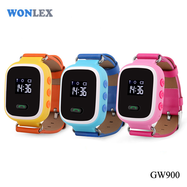 Wonlex GW900 kids gps watch /gator child gps tracker / wrist watch gps tracking device for kids-caref watch