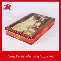 new design rectangle shape metal tin case/tin box