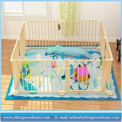 Wholesale new design baby playard safety wooden picket baby fence