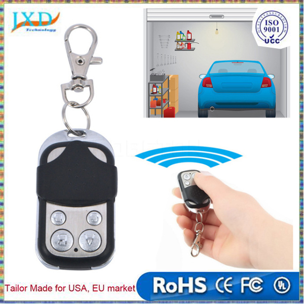Wireless Auto 4-Channel Electric Cloning Special Gate Garage Door Remote Control Fob Transmitter Duplicator 433MHz Keychain