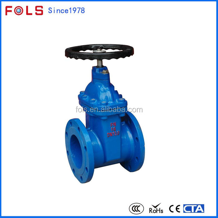 high quality soft sealing flanged cast iron gate valve pn10