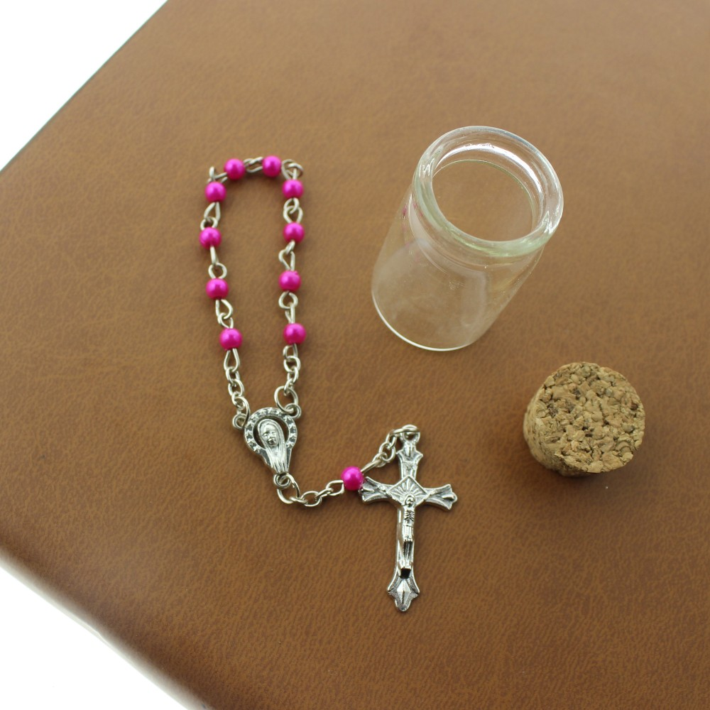 Top Quality Fatima Imitation Pearl Rosary Bead Chain for Promotion