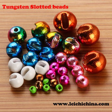 Wholesale fly fishing slotted tungsten beads
