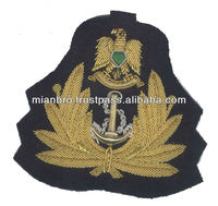 Korea Military Gold Bullion Wire Badges made in Pakistan
