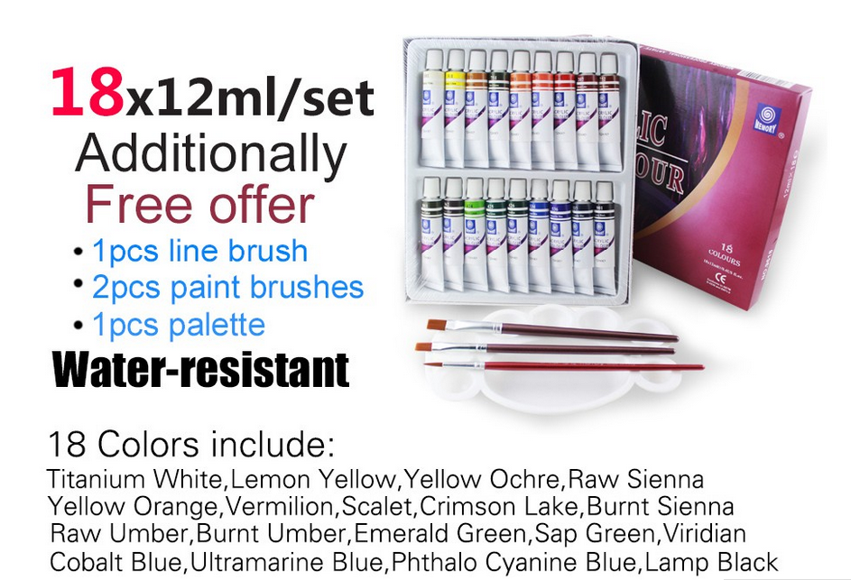 Memory paint acrylic 24 colors diy acrylic paint set for professional artist