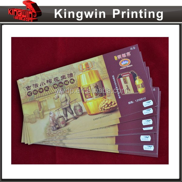 High Quality Security Printing Coupon