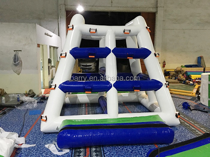 0.9mm PVC Inflatable Climbing Water Tower / Inflatable Water Jump Tower