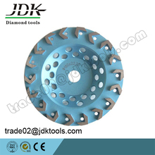 JDK 180mm/7 Inch Arrow Segment Diamond Cup Wheel For Concrete Abrasive Tools
