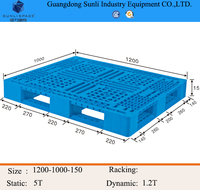 1200x1000 Injection Molding Stackable Plastic Pallet