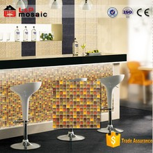 mixed colors 300x300x8mm wallpap glass mosaic tile