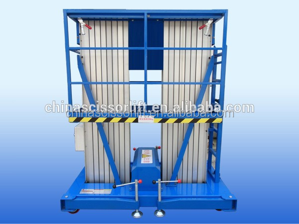 Single Pole Aluminum Alloy man lift /Electric Table Lift