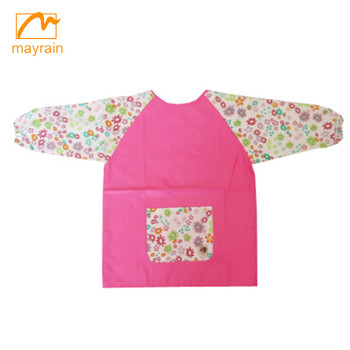 fabric printed kids cartoon drawing aprons