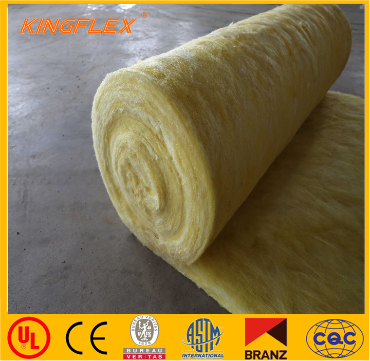 Thermal insulation fiber glass wool blanket made in china for Glass fiber blanket insulation
