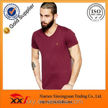 Top quality men blank t shirt embrodery logo on the left chest with wholesale price