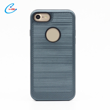 Factory Price Tpu Pc 2in1 Brushed Armor Phone Case For Iphone 6 Phone Cover