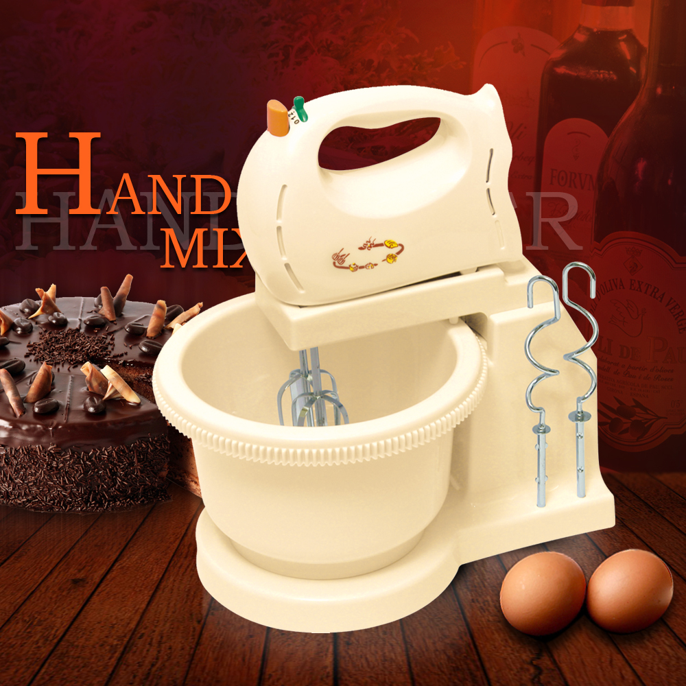 Egg Stand Mixer With Rotational Plastic Bowl