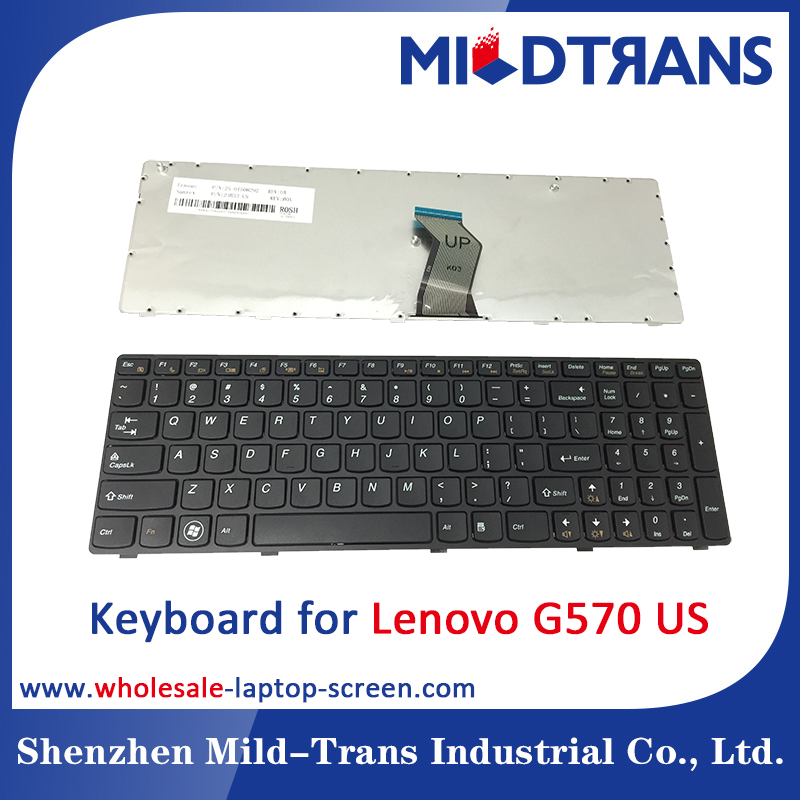 Wholesale laptop replacing Keyboard for Lenovo G570 US layout