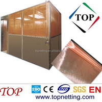 copper EMI shielding conductive mesh for shielding room