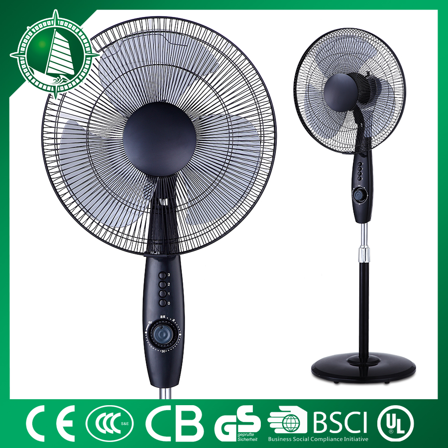 2016 low cost high efficiency electric plastic pedestal standing fans ABS table bladeless fan