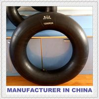 Large butyl inner tube 1200-24 korean tube tire 12.00-24 cheap chinese tire