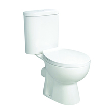 Low price floor mounted P trap two piece wash down wc toilet