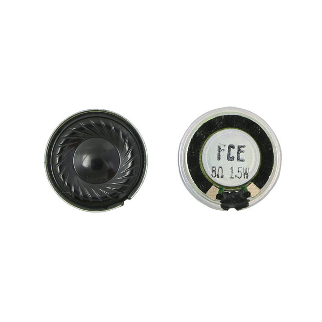 23mm 8ohm 1.5W speaker with compact size for alarms device