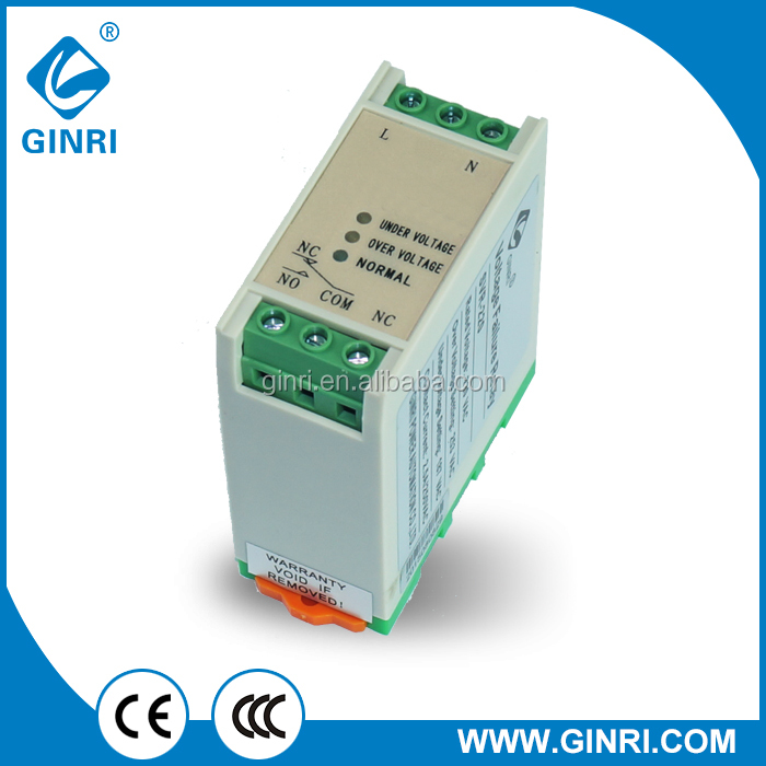 GINRI Wenzhou Professional Relay Manufacturer Single Phase Voltage Relay AC Protection Relay SVR-220