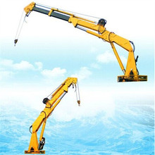 hydraulic telescopic knuckle boom offshore marine crane