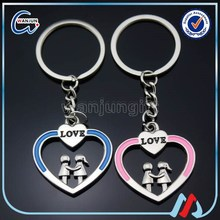 heart keyring couples keyrings factory direct wholesale couple keyrings