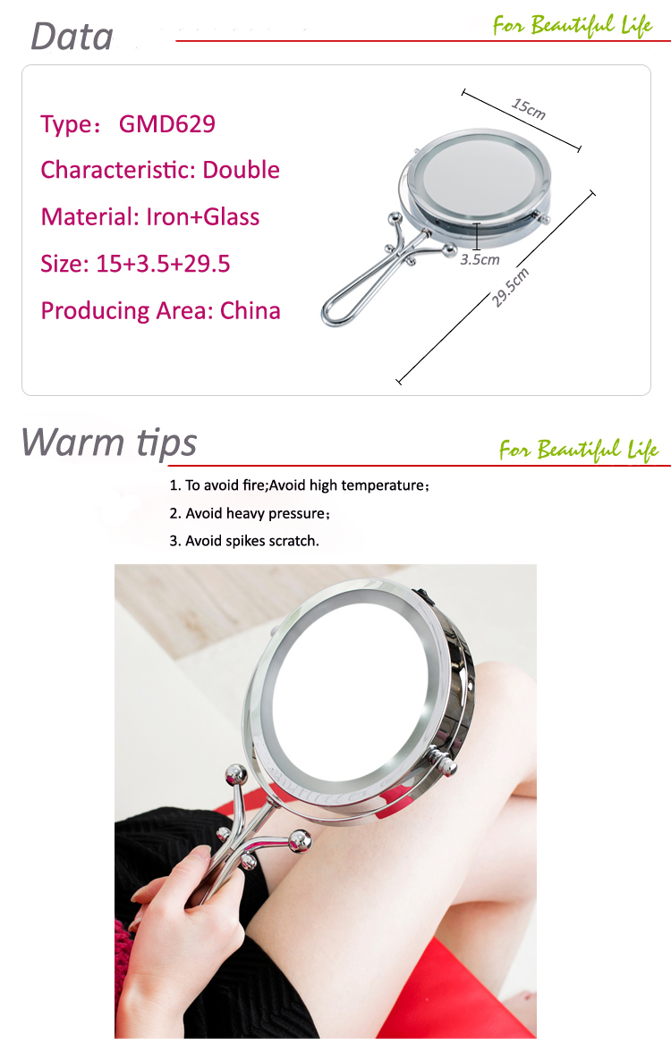 Best Selling Hand Lighted Makeup Mirror