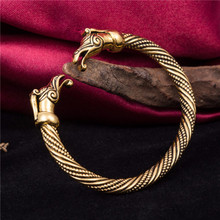 Antique vintage colored zinc alloy chic embossed customized woven bracelets for unisex